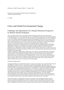 Cities and Global Environmental Change