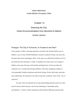 Chapter for a book on cities and technology edited by Mikael Hård