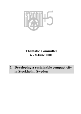 Developing a sustainable compact city in
