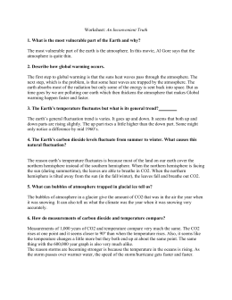 An Inconvenient Truth Worksheet