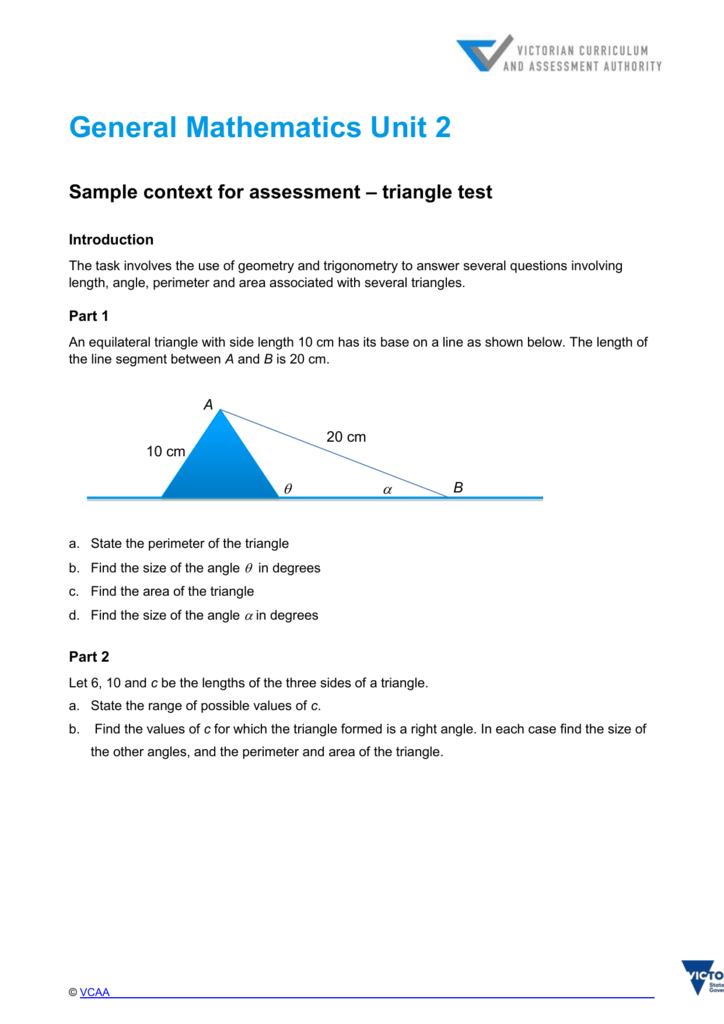 triangle test