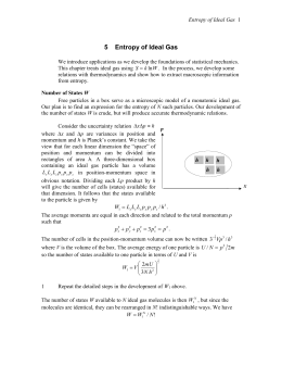 5 Entropy of Ideal Gas