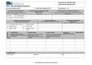 Job Safety and Environmental Analysis Worksheet