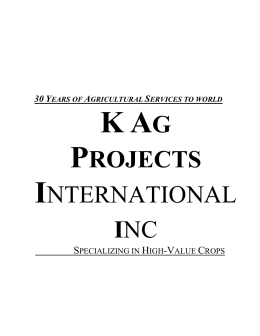 K Ag Projects International, Inc.