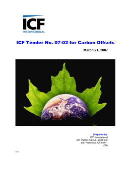 ICF Tender No. 07-02 for Carbon Offsets_2007