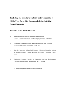 Predicting the Structural Stability and Formability of