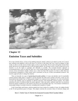 Chapter 12: EMISSION TAXES AND SUBSIDIES