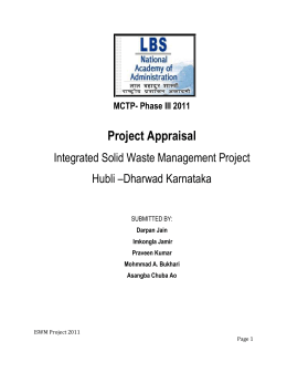 2. Intergrated Solid Waste Management Project - GO-PEM-PAL