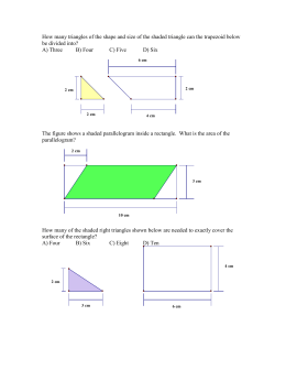 How many triangles of the shape and size of the shaded triangle can