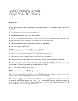 Geometry Book-Chapter 1 Ex Set