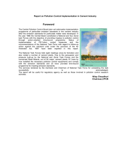 Report on Pollution Control Implementation in Cement Industry