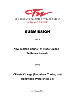 Word document  - New Zealand Council of Trade Unions