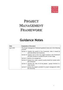 A Draft Project Management Framework for Cardiff University