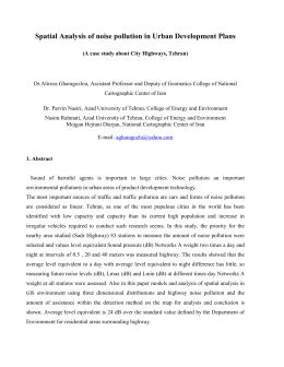ts 8.6_gharazoglou_spatial analysis of noise pollution in urban