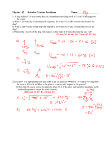 Extra Relative Motion Problems