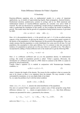 Finite Difference Schemes for Fisher´s Equation