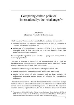 Comparing Carbon Policies Internationally: the `challenges` (Word