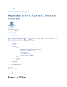 Research UGent — Department of Flow, Heat and Combustion