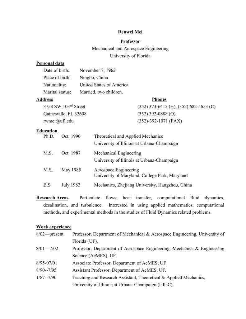 Resume/UF-7