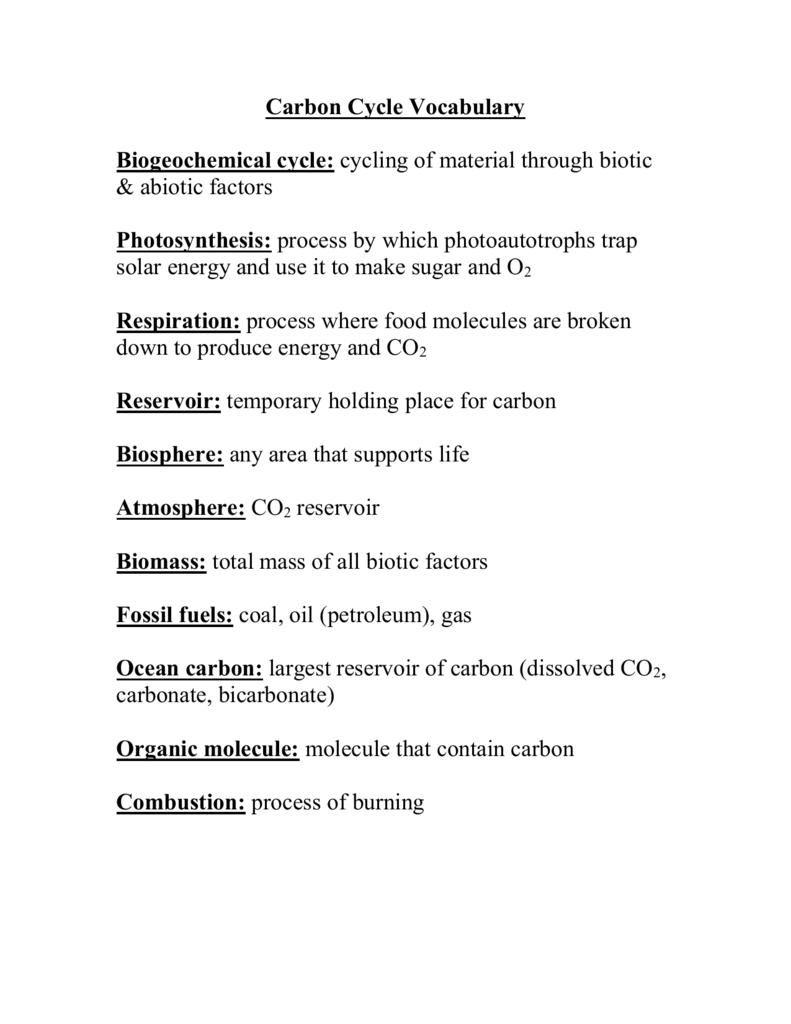 Carbon cycle vocabulary 0059021011 6ac247bd54d1b228817033f615312c4fg ibookread ePUb