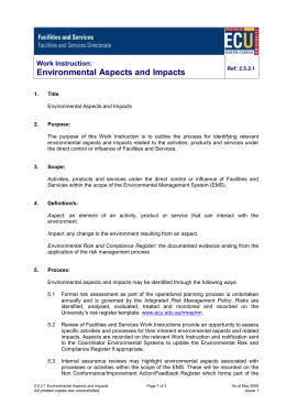 2.5.2.1 Environmental Aspects and Impacts