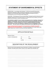Statement of Environmental Effects Template for Major Development