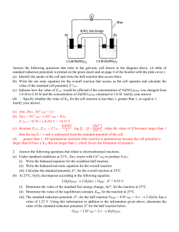 Answers to Electrochem AP Questions