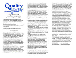 Annual Water Quality Report