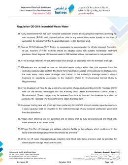 Regulation DD-28.0 Industrial Waste Water