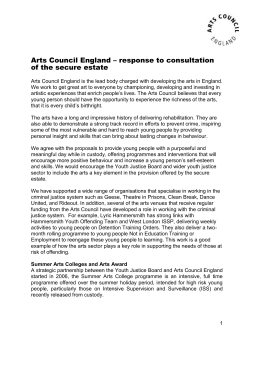 response to consultation of the secure estate