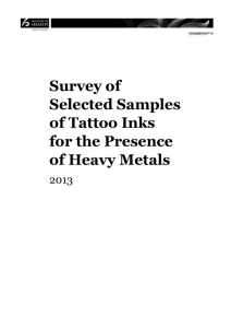 Appendix 3: Concentrations of heavy metal present