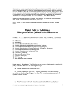 MODEL RULE 2002- Additional Nitrogen Oxides (NOx)