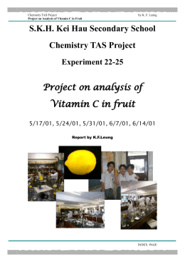 Chemistry Report - Project on analysis of Vitamin C in fruit