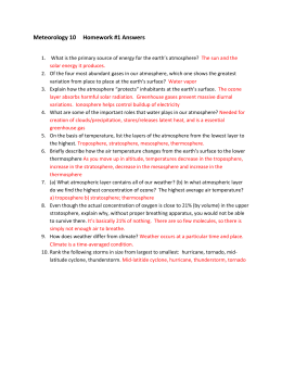 Meteorology 10 Homework #1 Answers What is the primary source