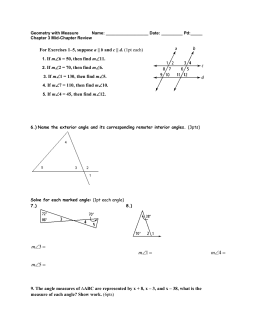 Geometry with Measure Name: Date: ______ Pd:_____ Chapter 3