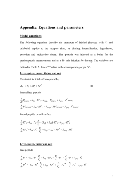 Supplement: Equations and parameters