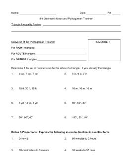 worksheet geometric mean - Geometric Mean Worksheet