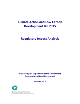 Climate Action and Low Carbon Development Bill 2015