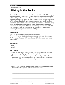 History in the Rocks - Ionia Public Schools