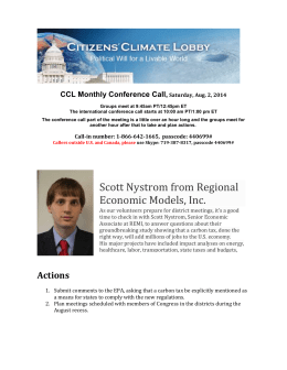 CCL Monthly Conference Call, Saturday, Aug. 2, 2014 Groups meet