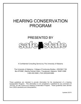 Hearing Conservation - UA SafeState