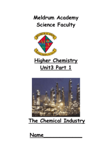 A - The Chemical industry – Introduction