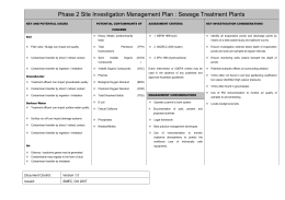 Phase 2 Site Investigation Management Plan : Sewage Treatment