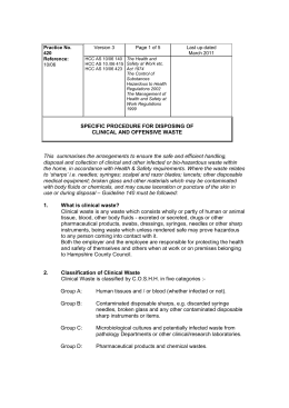 Infection Control Worksheet