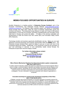 MEMS - Enterprise Europe Scotland