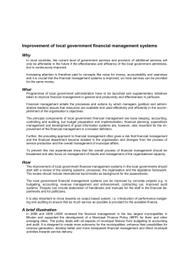 Improvement of local government financial management systems