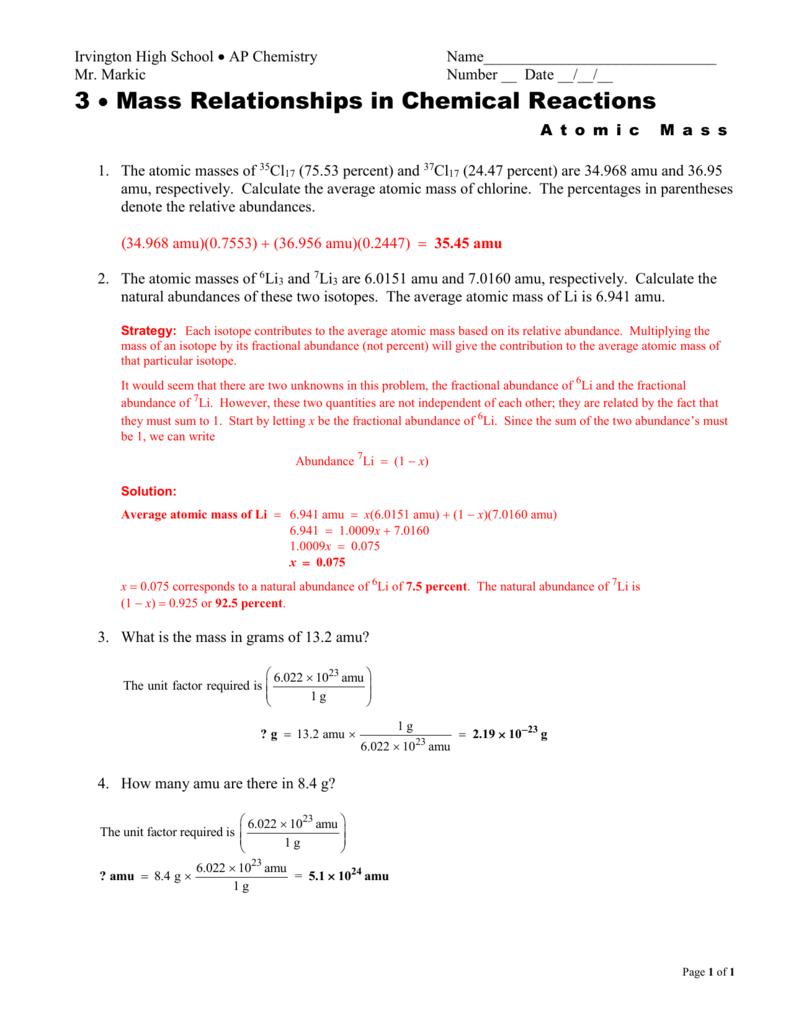 File - Mr. Markic`s Chemistry