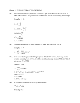 Chapter 14 FE Problem Solutions