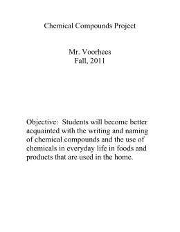 Chemical Compounds Project