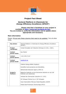 SPiCE³ Project Factsheet